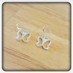 Jewelry - NWOT Sterling Silver Butterfly Earrings